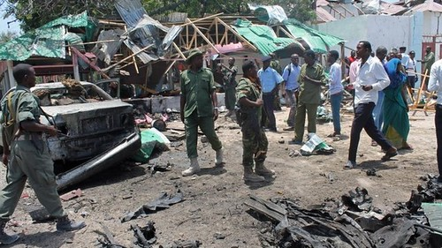 Another bombing in the Somalia capital of Mogadishu on September 8, 2013. Over a dozen people were killed at the attack near the parliament building. by Pan-African News Wire File Photos