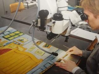 Análisis y restauración en el Museo Van  Gogh.