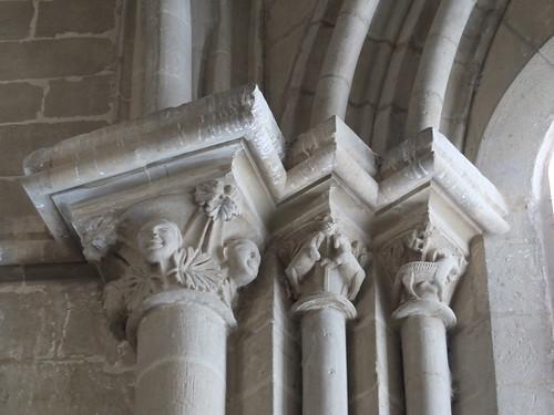 Iglesia de San Miguel de Foces - Capiteles en el interior 5