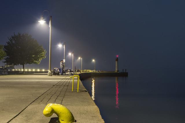 Гавань Бронтэ ночью
