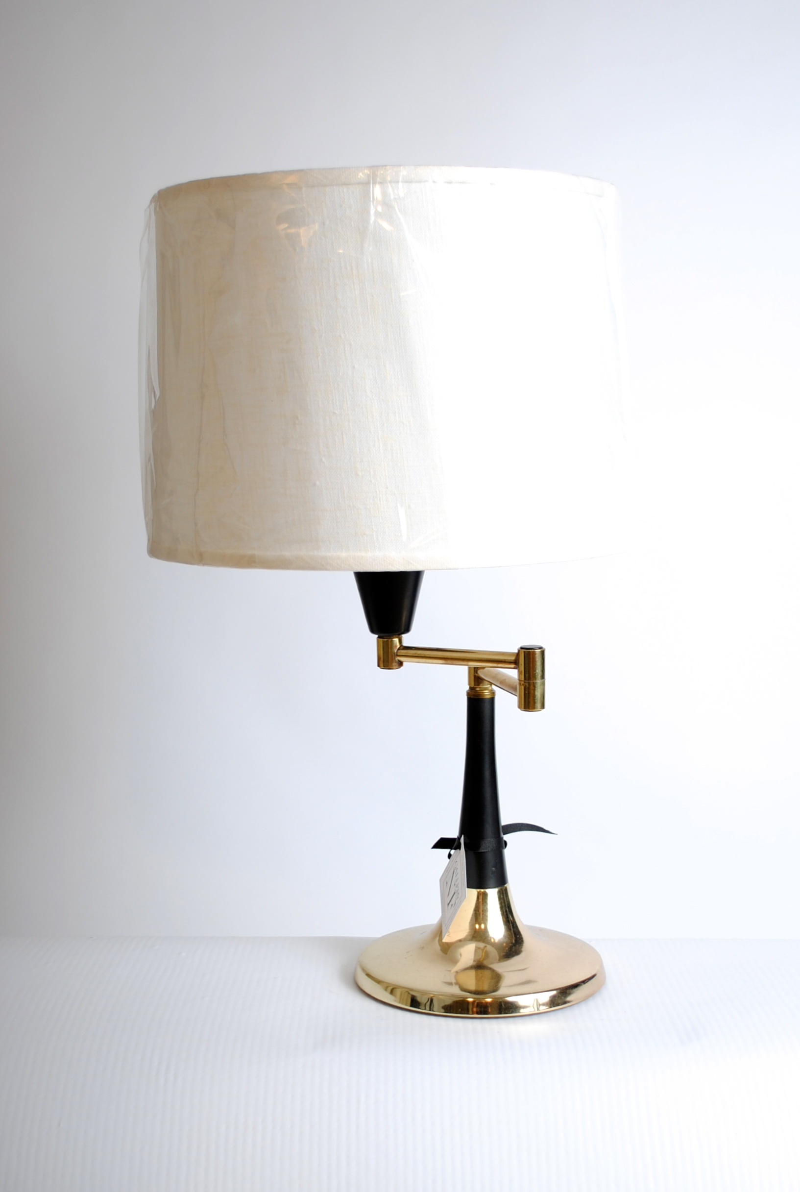 Vintage Black/Brass Reading Lamp