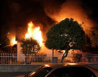 Smoke Alarm Allows Woman to Escape Deadly North Hollywood Blaze. © Photo by Jeffrey Geller. Click to view more...