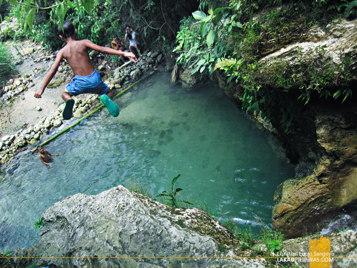 Jumping Kids at Dalipuga Falls in Iligan City