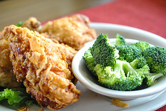 meal, broccoli, vegetable, chicken meat, fried food, produce, food, dish, cuisine,
