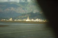 Buddhist temple Bodhnath in Kathmandu, Nepal Feb 1990 456