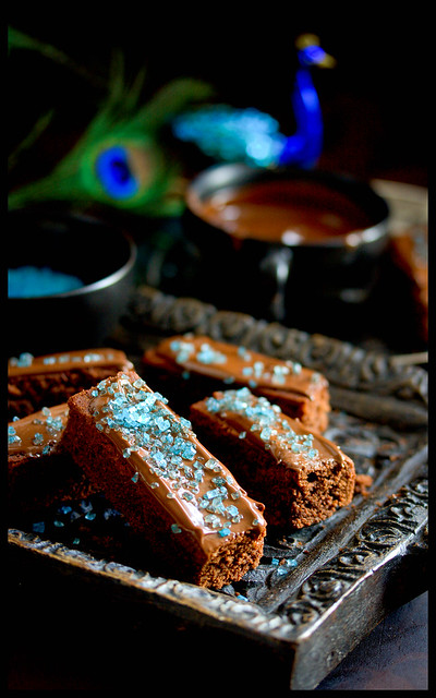 Brownies mit Knisterzucker