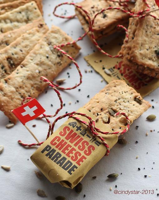 crackers formaggio semi