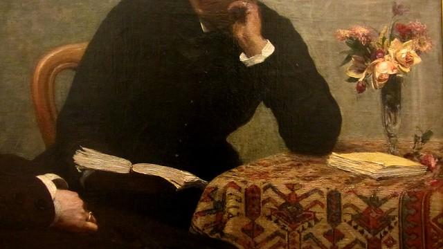 Henri Fantin-Latour, 1836-1904, La Lecture, dét., 1877, Musée des beaux-arts de Lyon