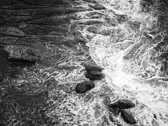 Texture and Complexity, rocks and tide B&W II
