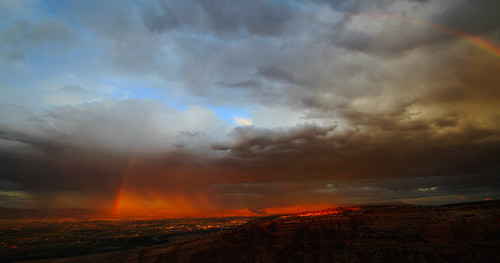 outrageousimages davewadsworth colorado grandvalley grandjunction aroundtown rain i70 mountgarfield grandmesa flyovercountry rainbow storm sunset clouds tpcu14l4