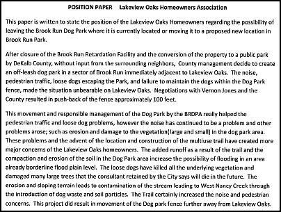 Heneghan S Dunwoody Blog Brook Run Dog Park Makes Proposal To Stay