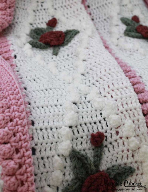 Crochet Rose Afghan Pattern : Vintage Diamond Rose Afghan Crochet Pattern PA216 Flickr ...