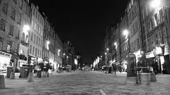 Royal Mile, winter night