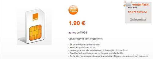 Mobicarte   Formules sans engagement   Mobile   orange