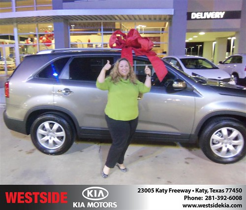 Happy Anniversary to Wendy E Pierson on your 2013 #Kia #Sorento from Rizkallah Elhallal and everyone at Westside Kia! #Anniversary by Westside KIA