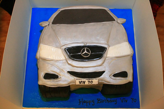 Mercedes cake flickr photo sharing for Mercedes benz cake design
