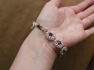 "Bracelet - ""amethyst crystal"""
