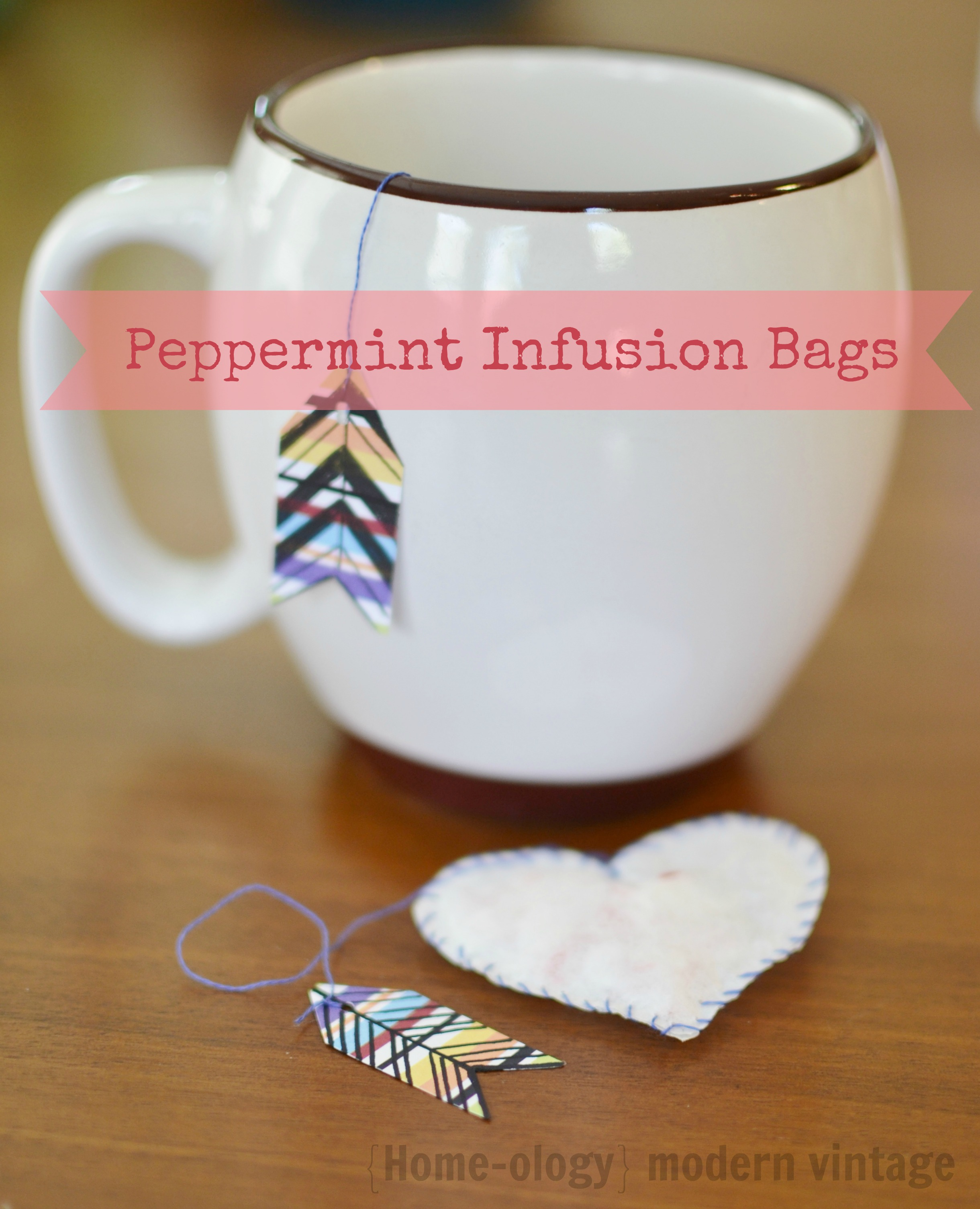 making peppermint infusion bags
