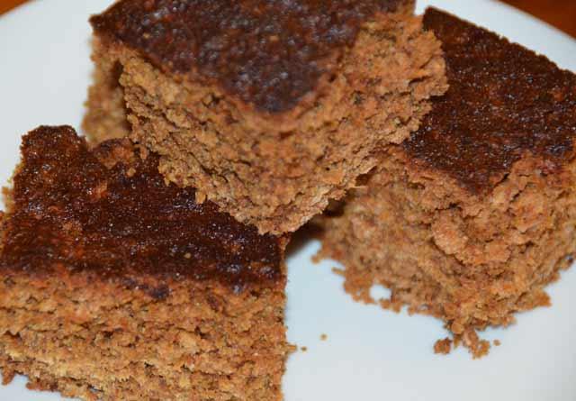 squares of parkin cake