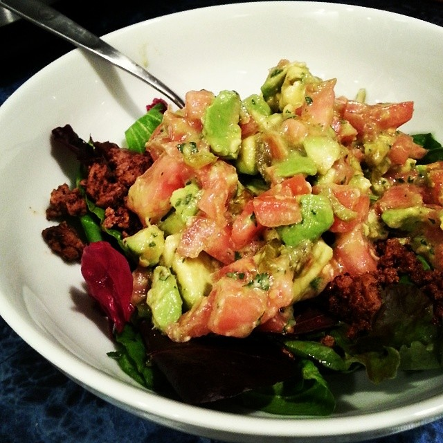 Taco salad for dinner. #paleo #whole30
