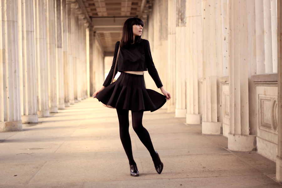 OUtfit H&M Miu Miu Topshop all black Michalsky StyleNite look CATS & DOGS fashion blog from berlin 5