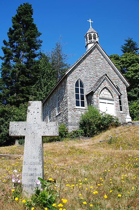 St Pauls Church in Fulford on Saltspring Island, Gulf Islands, Georgia Strait, British Columbia, Canada