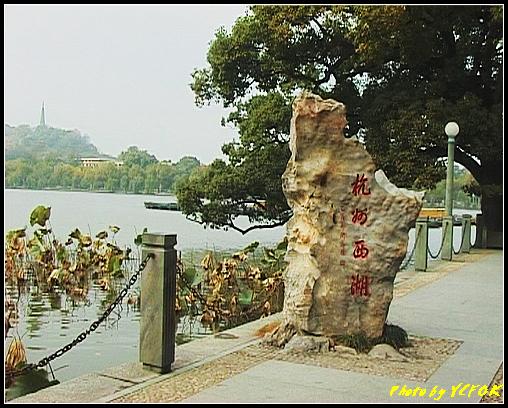 杭州 西湖 (其他景點) - 054 (湖濱路的湖畔 刻上杭州西湖的太湖石)