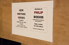 New Writing Series_Philip Boehm