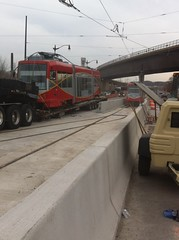 Second streetcar being moved to H/Benning.