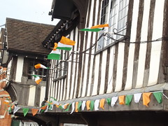 St Patrick's Day - The Old Crown - High Street Deritend, Digbeth - Irish flags