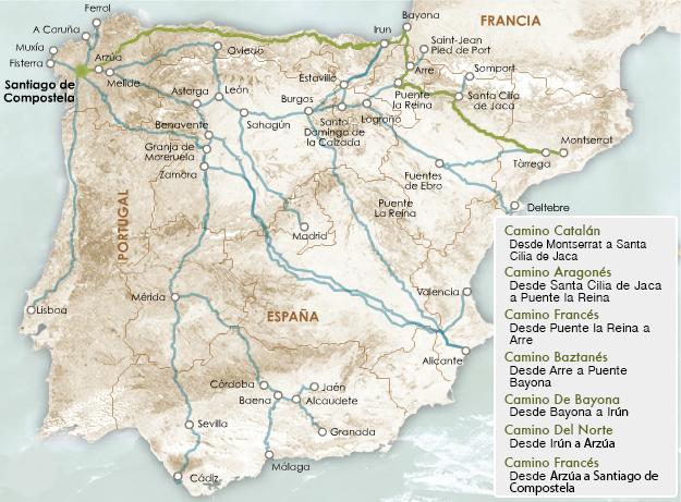 Ruta Camino de Santiago desde Barcelona