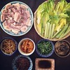 A healthy and not so healthy dinner :grilled pork belly BBQ (samgyupsal) #koreanfood #homecooking #porkbelly #instafood