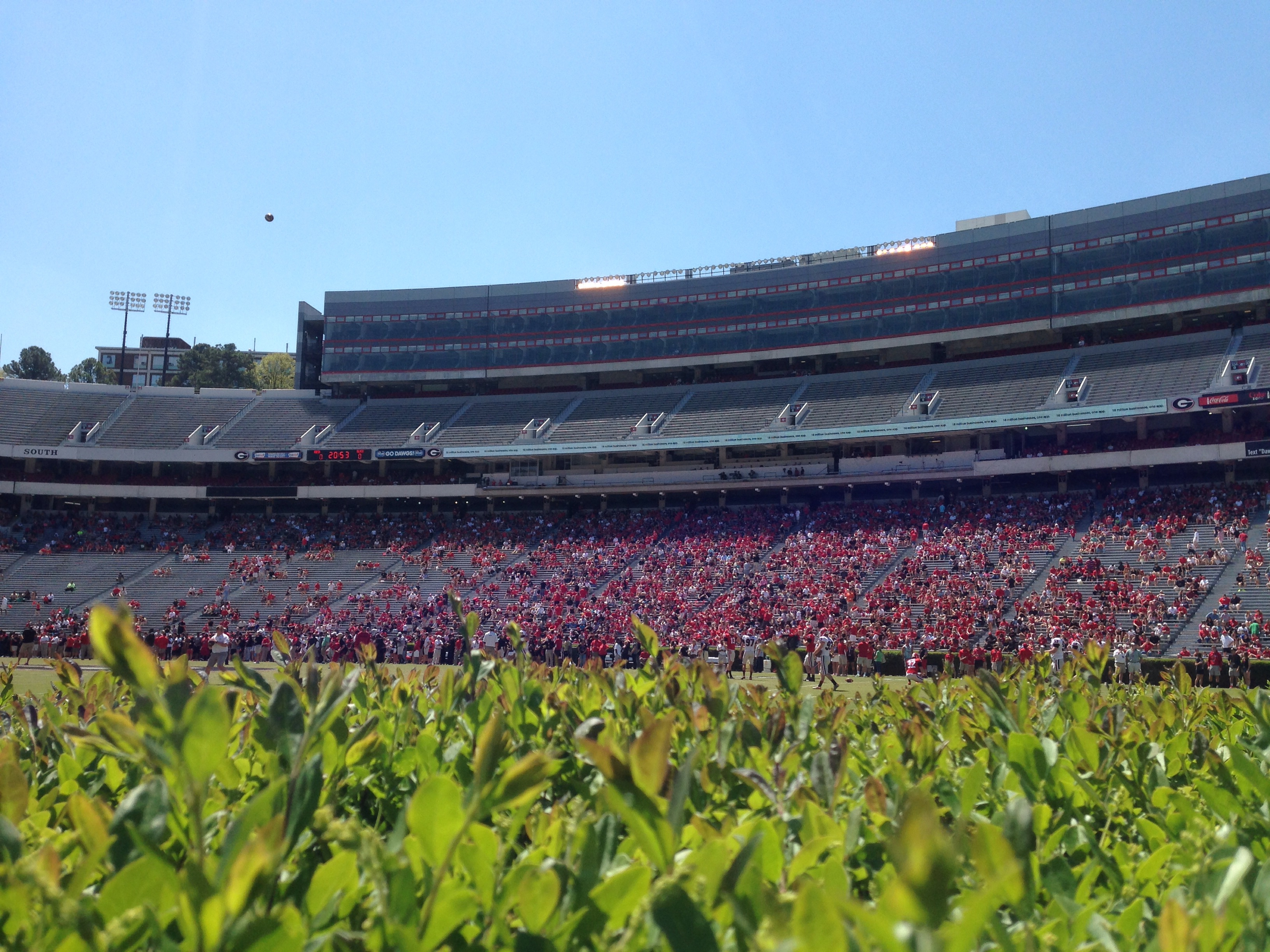 The view from the Hedges at Sanford Stadium