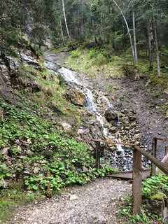 Stream on hike from Stechelberg to Murren Switzerland