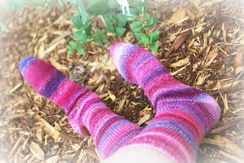 Handknit socks