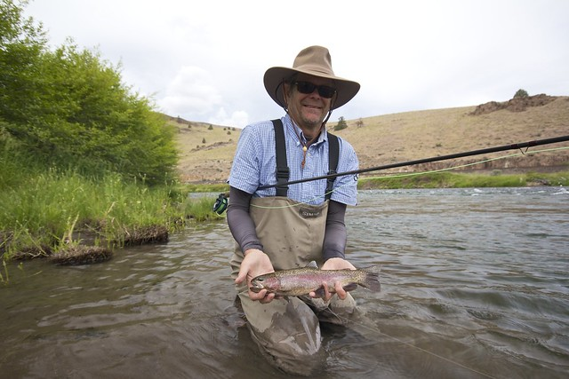 Keith Steinbruck with a Deschutes River Rainbow