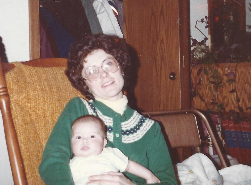 Sara with Leone 1982