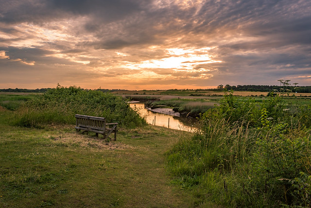 Some where to sit and muse behind the Church at Blythburgh