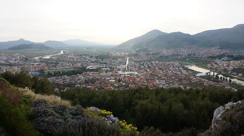 city sunset panorama view herzegovina trebinje bosniaandherzegovina republikasrpska vidik cityoftrebinje