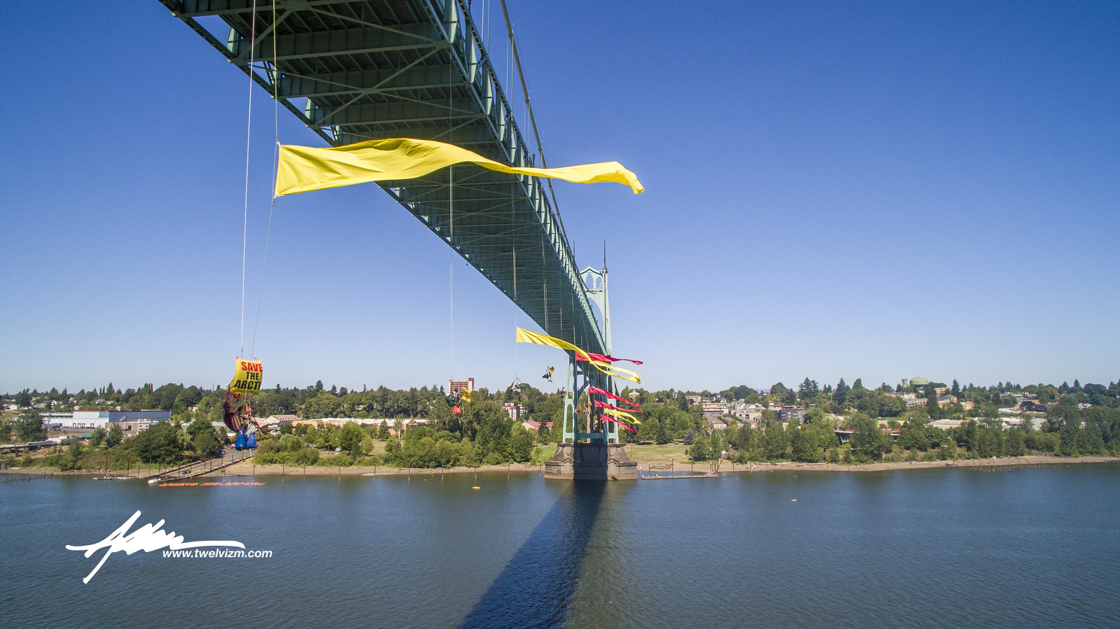Greenpeace Protest - St. Johns Bridge
