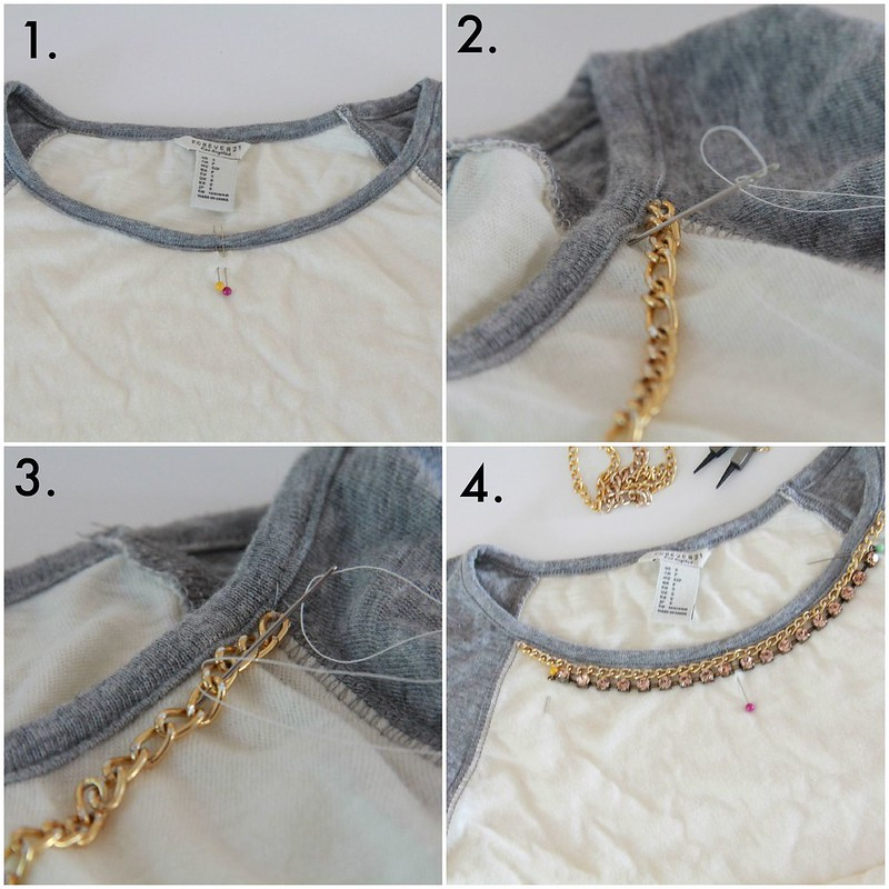 baseball necklace tee tutorial via Kristina J blog