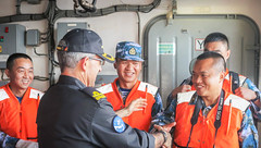 EUNAVFOR FCdr welcomes Chinese delegation on board ESPS Galicia