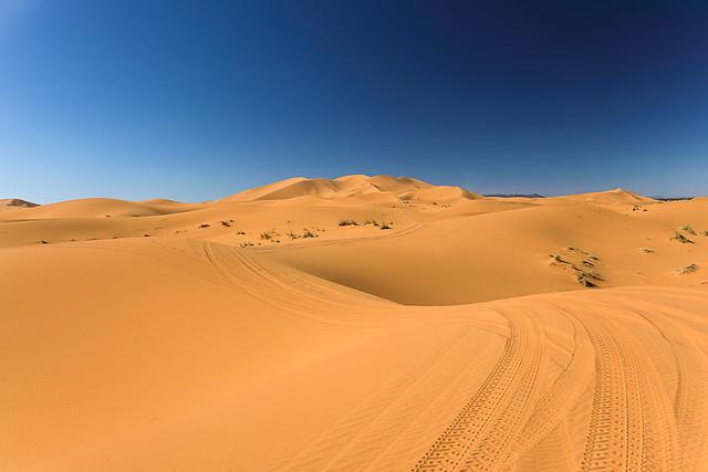 Erg Chebbi sand dunes in Morocco,