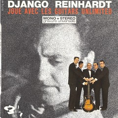 45 RPM - DJANGO REINHARDT - A) Nuages / Manoir De Mes Reves - B) Blues For Ike / Testament - (BARCLAY DISQUES FRANCE 1968)_A