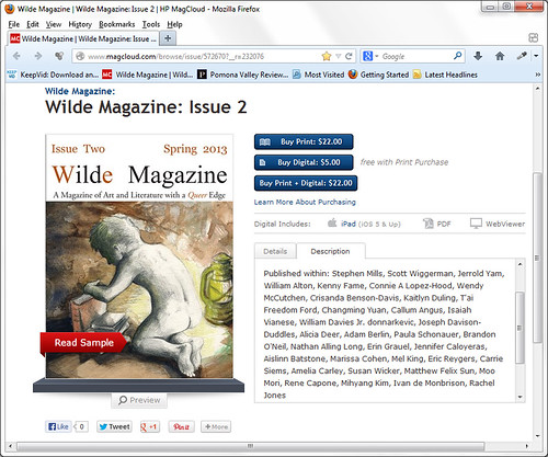 Wilde Magazine, Issue 2, May 2013