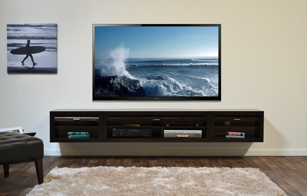 Wall mount tv console eco geo entertainment center How high to mount tv on wall in living room