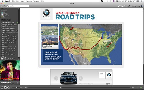 2013 BMW Great American Road Trips campaign@Spotify_04