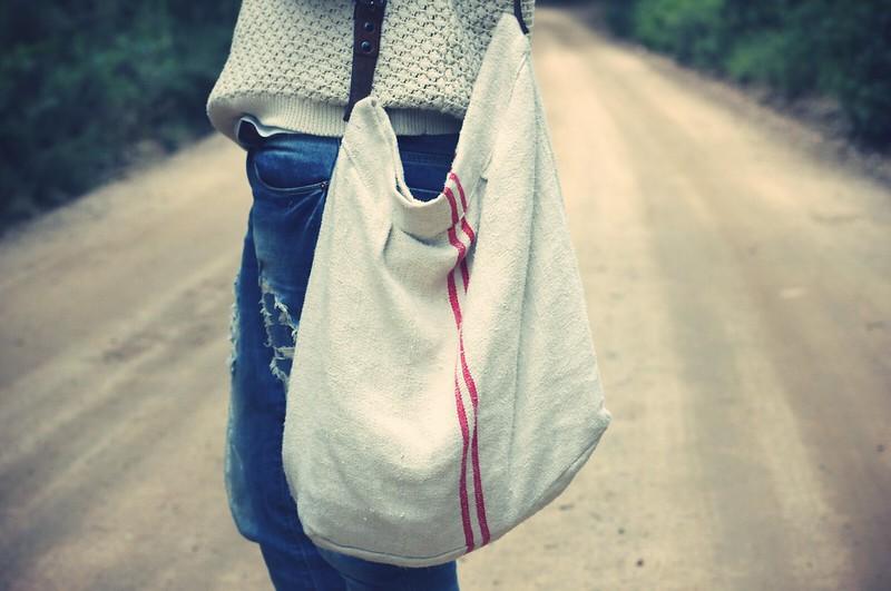 Look maxi jersey  + bolso saco