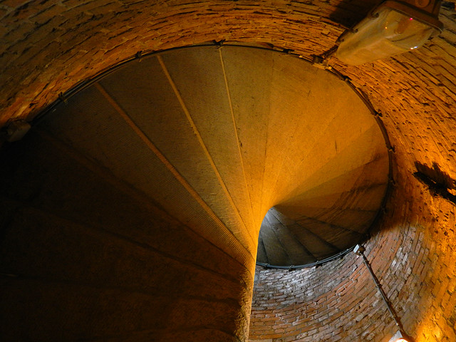 the Belltower stairs in Ghent, Belgium