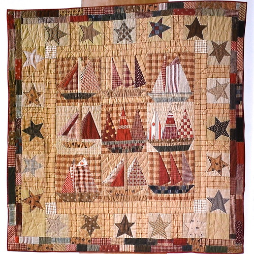 Old Sailboats Quilt from Le Petit Monde de Jacqueline Morel